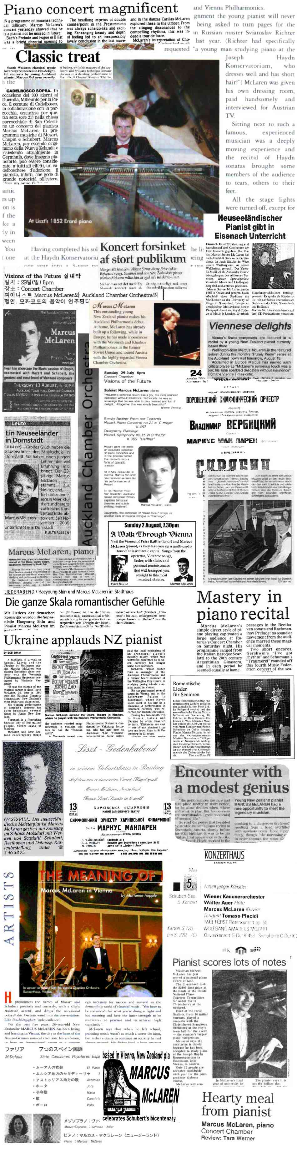 Press articles on Marcus McLaren